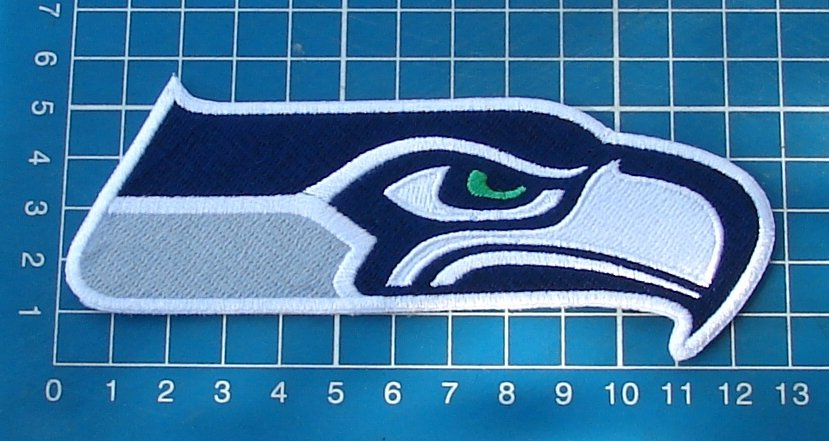 save off 84c7d 79ff7 Seattle Seahawks Football NFL Superbowl logo patch 5