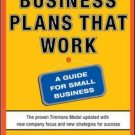 Business Plans That Work: A Guide for Small Business by Andrew Zacharakis Paperb