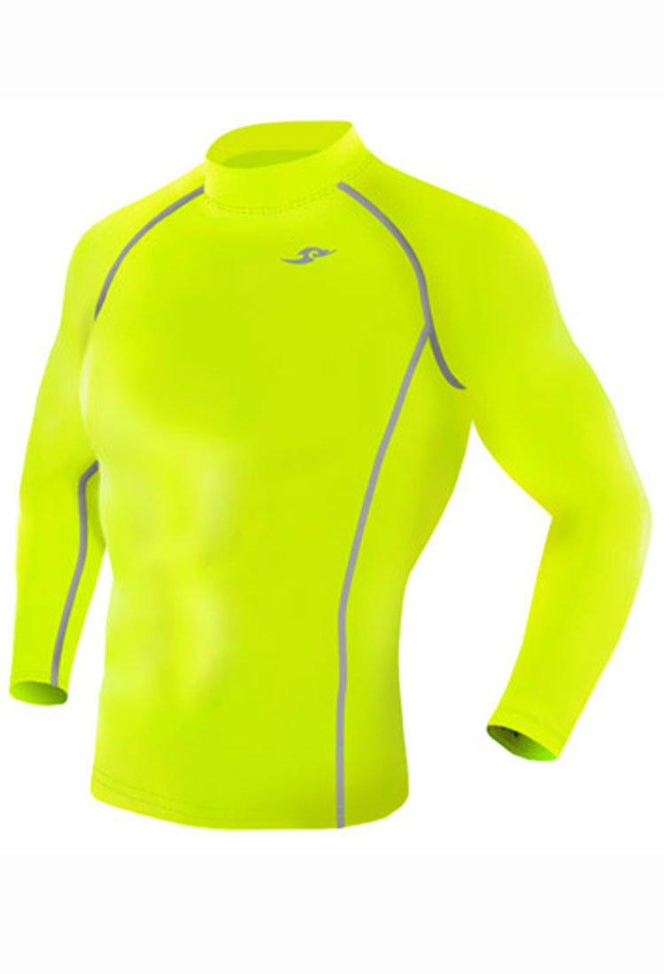 Take Five Mens Skin Tight Compression Base Layer Running Shirt S~2XL fluorescent 136