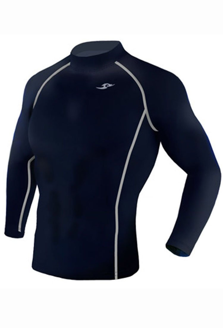 Take Five Mens Skin Tight Compression Base Layer Running Shirt S~2XL Navy 187