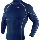Take Five Mens Skin Tight Compression Base Layer Running Shirt S~2XL Navy 013