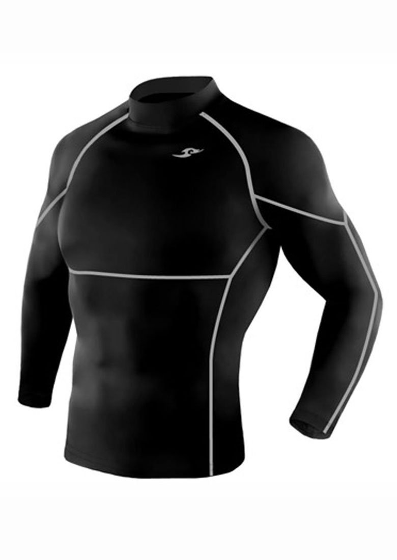 Take Five Mens Skin Tight Compression Base Layer Running Shirt S~2XL Black 005