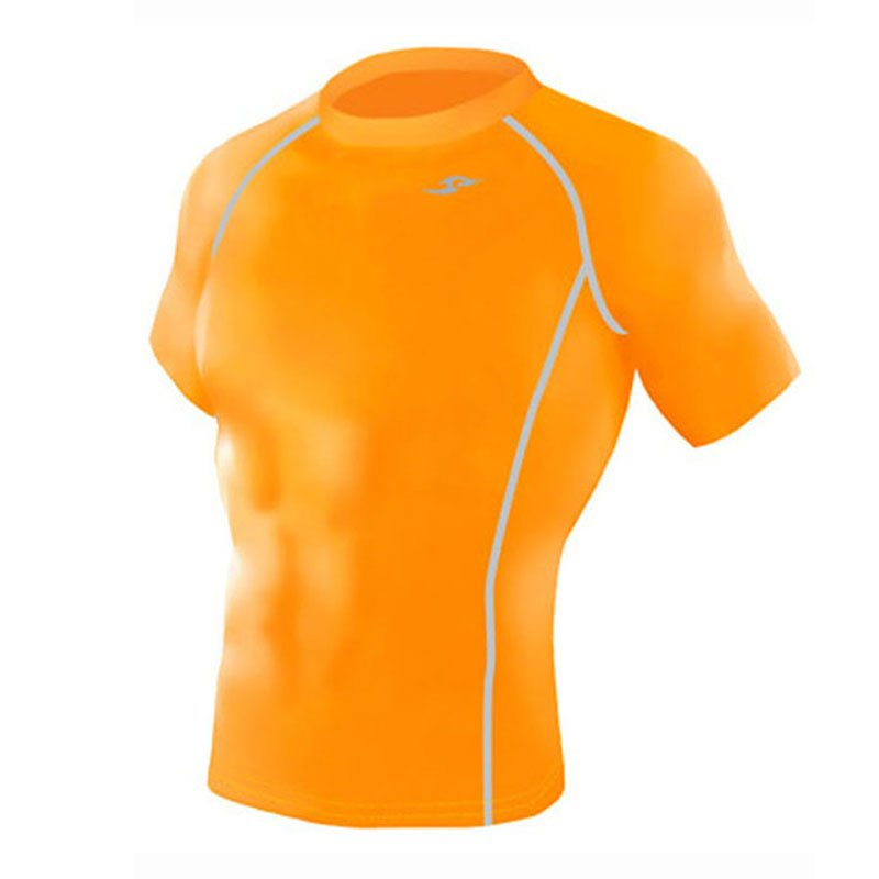 Take Five Mens Skin Tight Compression Base Layer Running Shirt S~2XL Orange 131