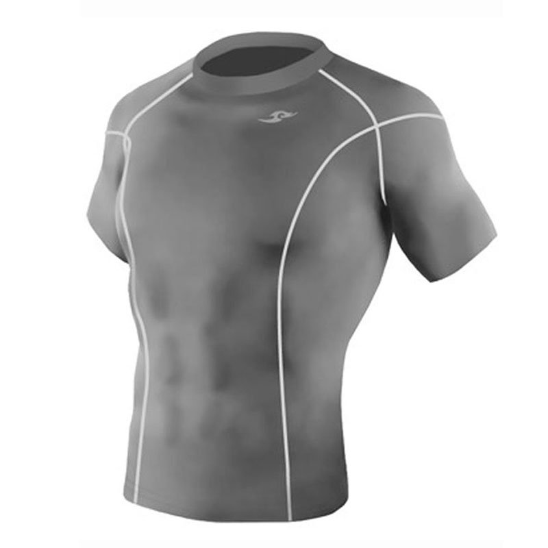 Take Five Mens Skin Tight Compression Base Layer Running Shirt S~2XL Gray 023
