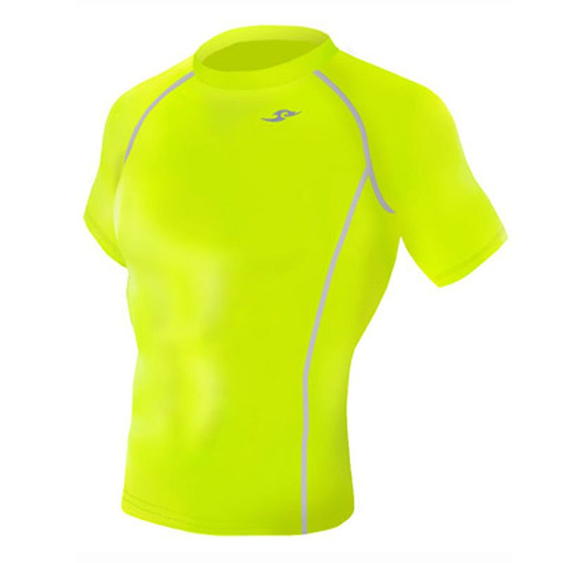 Take Five Mens Skin Tight Compression Base Layer Running Shirt S~2XL fluorescent 130