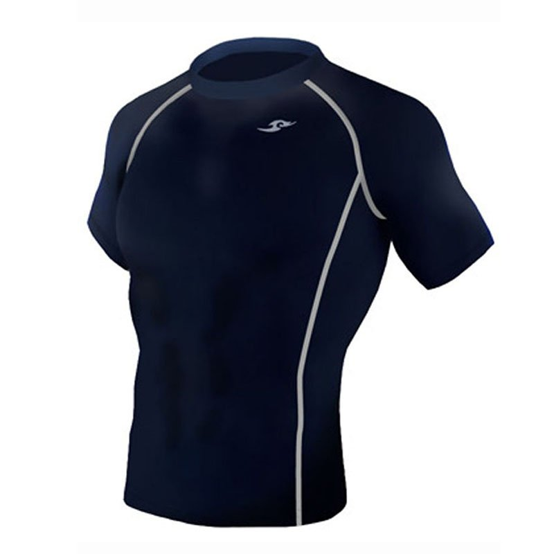 Take Five Mens Skin Tight Compression Base Layer Running Shirt S~2XL Navy 188