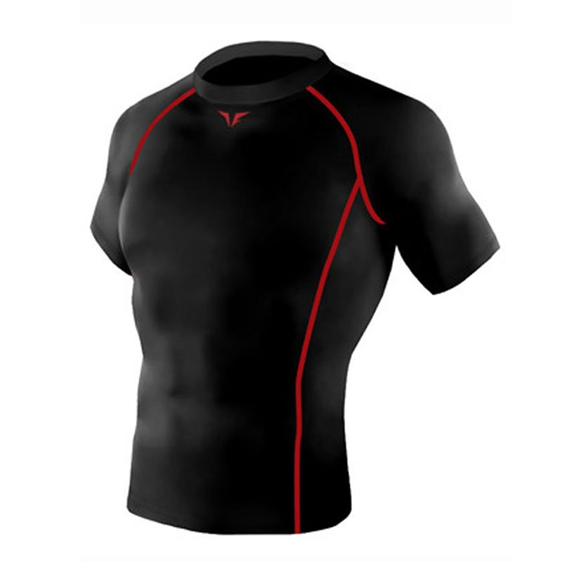Take Five Mens Skin Tight Compression Base Layer Running Shirt S~2XL Black 201