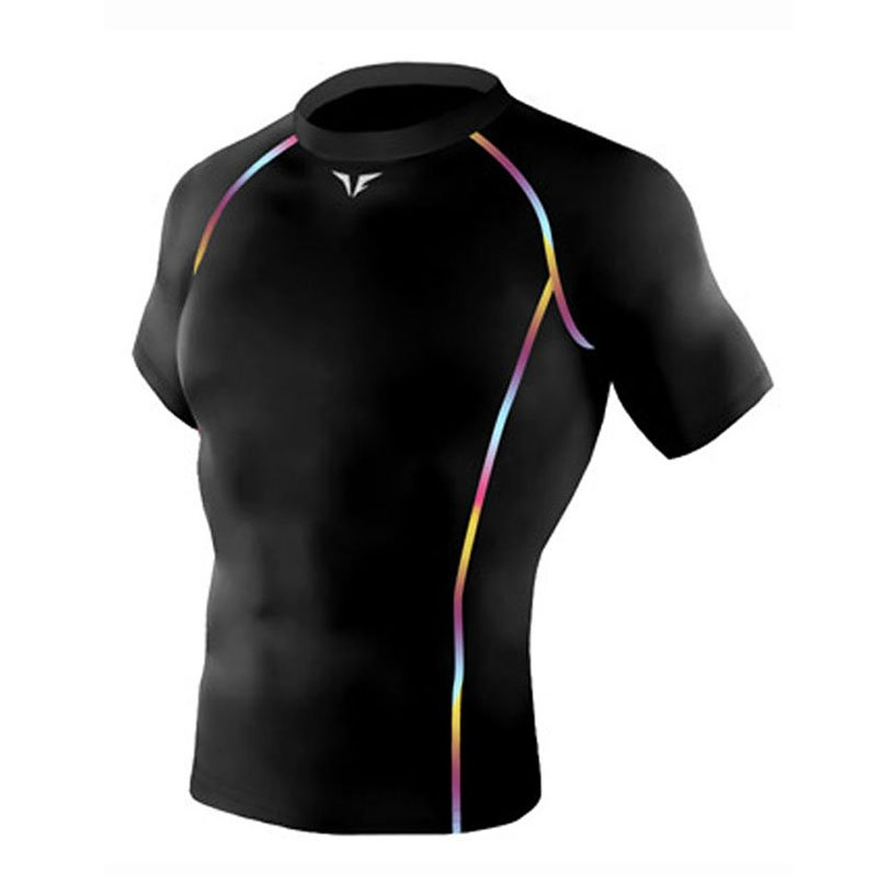 Take Five Mens Skin Tight Compression Base Layer Running Shirt S~2XL Black 211