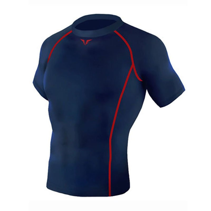 Take Five Mens Skin Tight Compression Base Layer Running Shirt S~2XL Navy 212