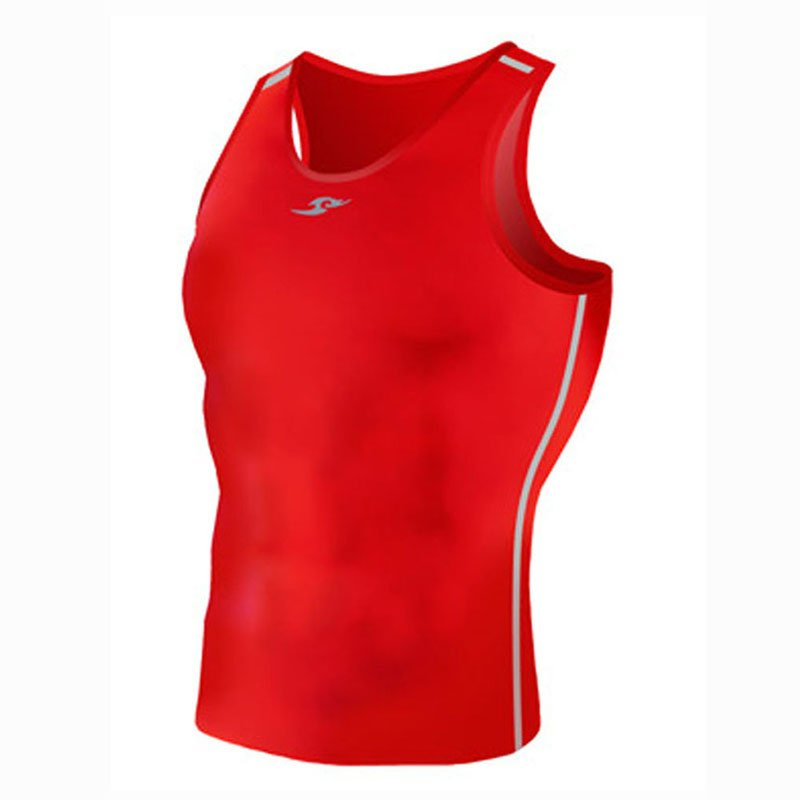 Take Five Mens Skin Tight Compression Base Layer Running Shirt S~2XL Red 074