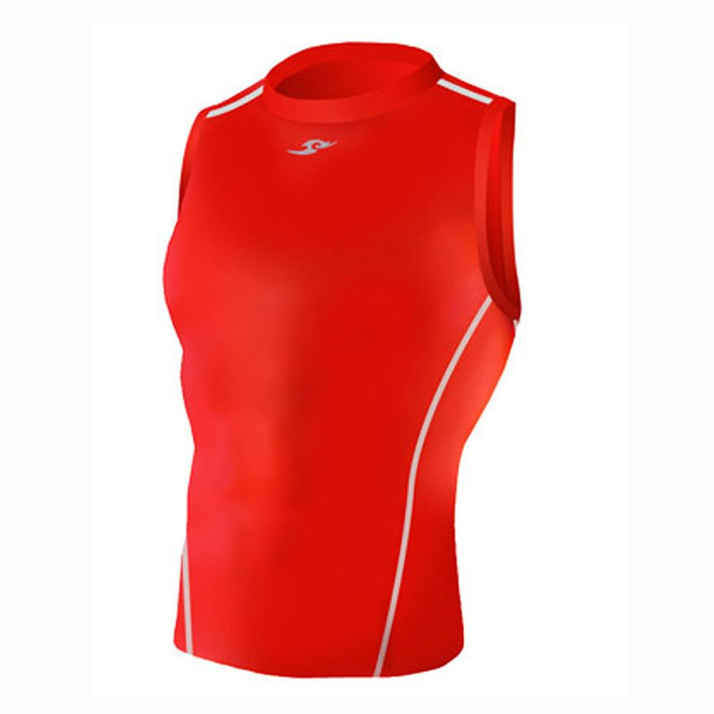 Take Five Mens Skin Tight Compression Base Layer Running Shirt S~2XL Red 043