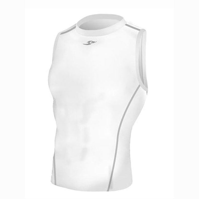 Take Five Mens Skin Tight Compression Base Layer Running Shirt S~2XL White 042
