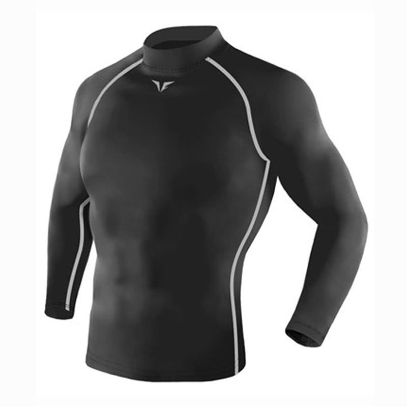 Take Five Mens Skin Tight Compression Base Layer Running Lining Shirt Gray 221