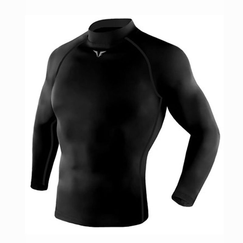 Take Five Mens Skin Tight Compression Base Layer Running Lining Shirt Black 218
