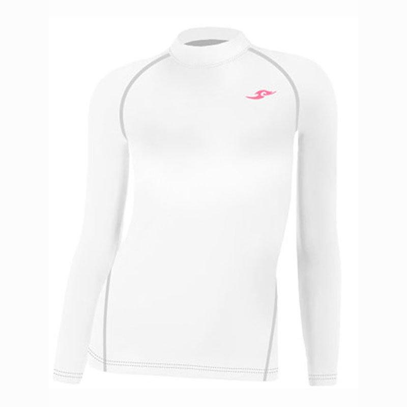 Take Five Womens Skin Tight Compression Base Layer Running Shirt S~XL White 095