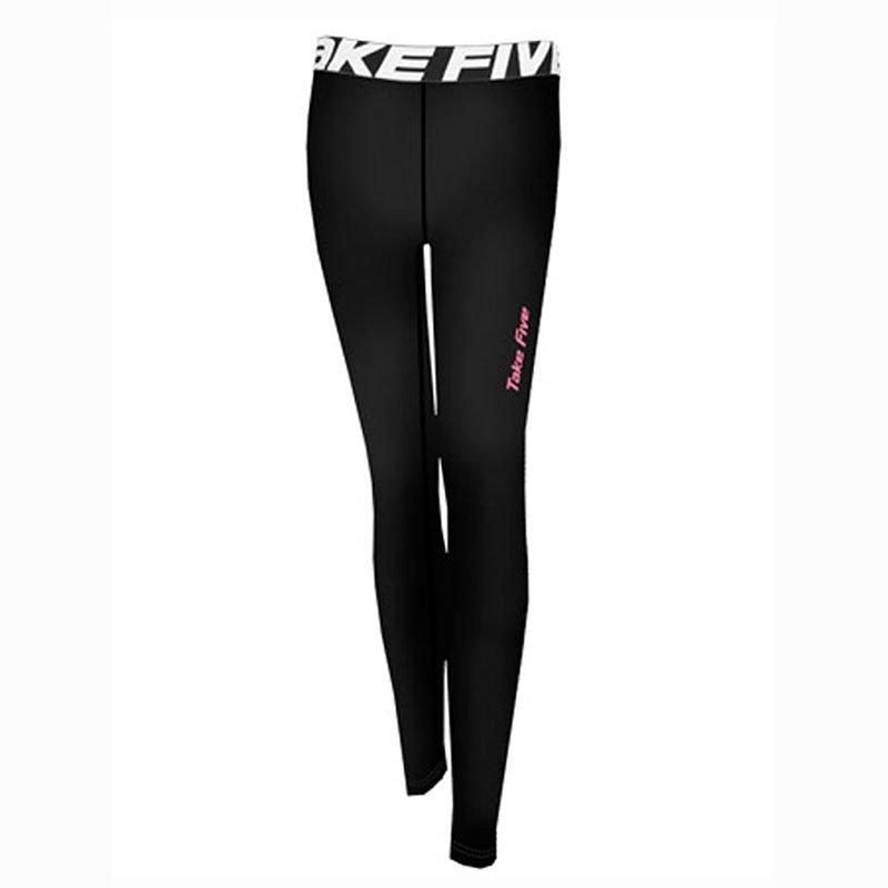 Take Five Womens Skin Tight Compression Base Layer Jogging Leggings Black 138