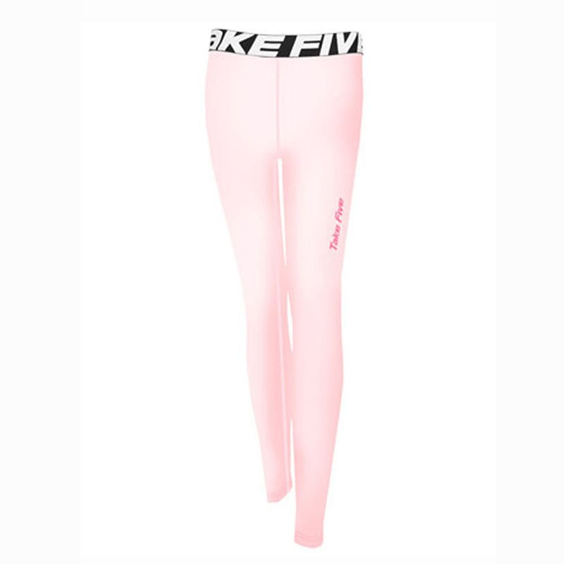 Take Five Womens Skin Tight Compression Base Layer Jogging Leggings Pink 140