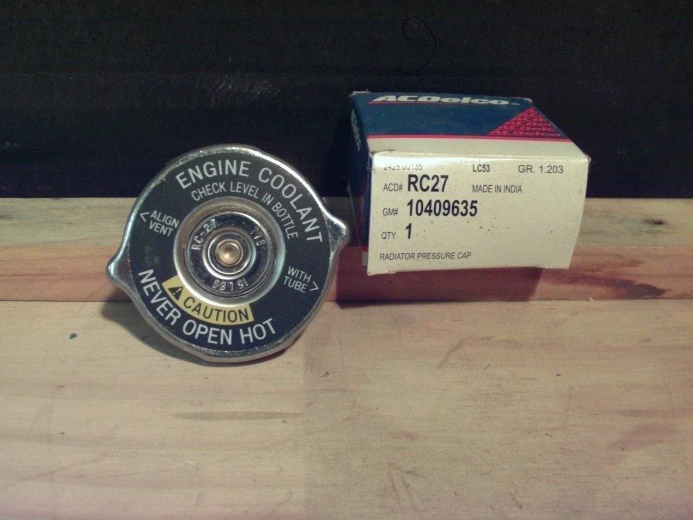 ACDelco RC27 GM OE 10409635 Radiator Cap 1985-94 S10