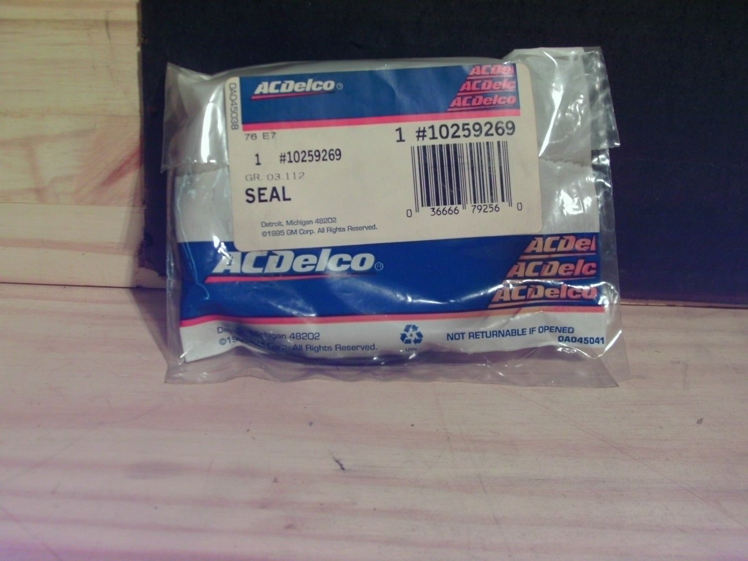 ACDelco 10259269 General Motors GM NOS Fuel Sending Unit Seal 10282861