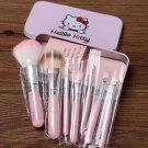 Hello Kitty 7 Pcs Mini Makeup brush Set cosmetics kit de pinceis de maquiagem make up