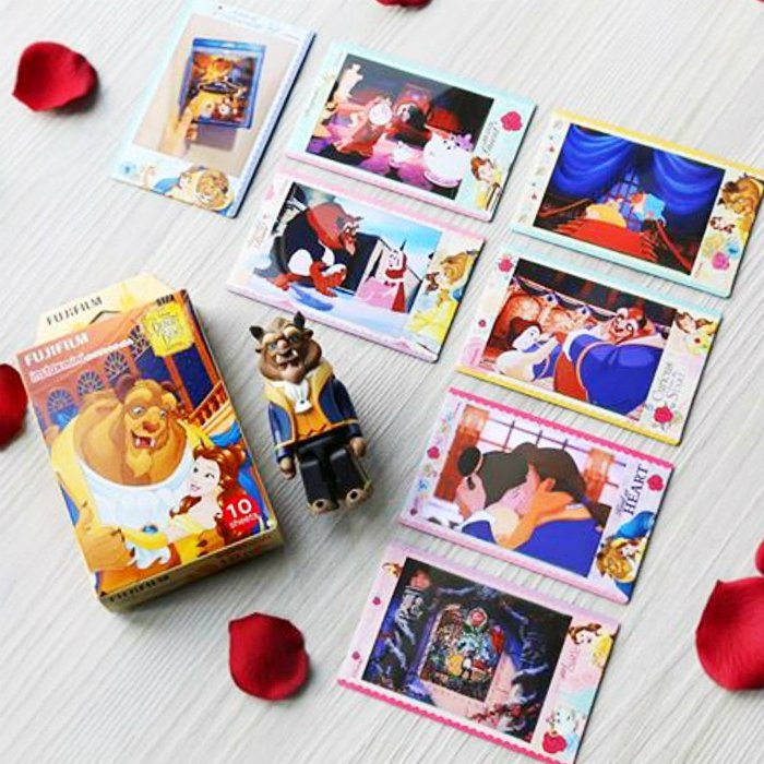 Disney Beauty And The Beast Fujifilm Instax Mini Films Polaroid Photos Accessory