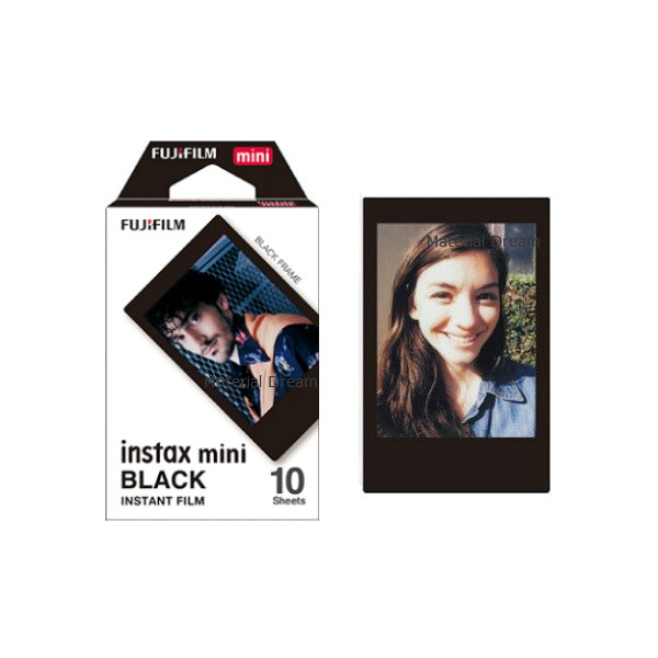 Black Fujifilm Instax Mini Films Polaroid Photos Accessory