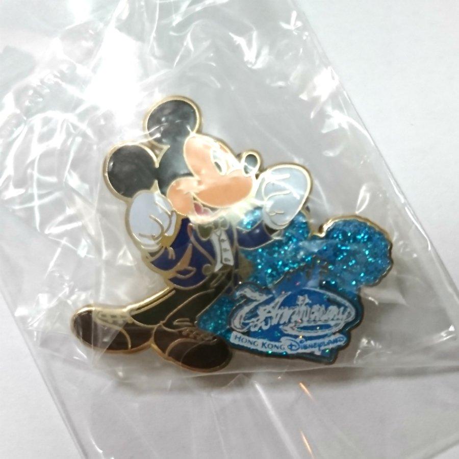 Disney Pin Hong Kong Disneyland Happy Memories to 10 Mickey 7th Anniversary