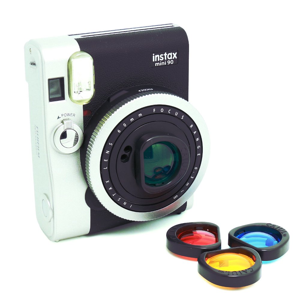Fujifilm Instax Mini 90 Camera 4 Color Filters Lens Polaroid Accessories