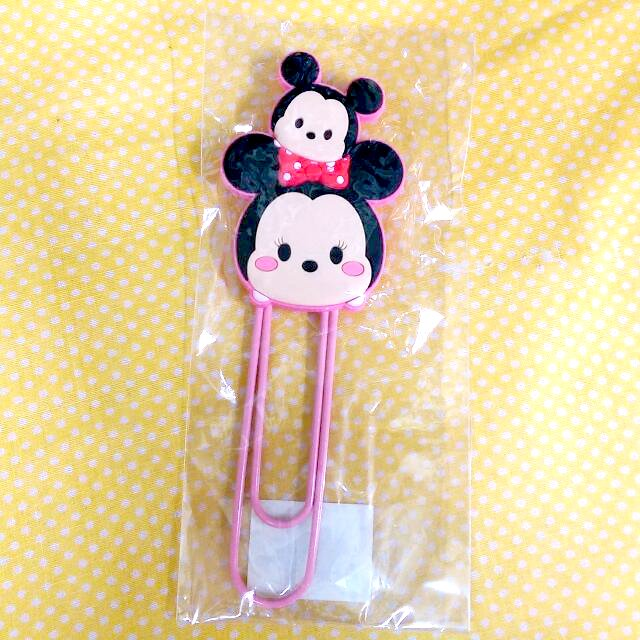 Disney Tsum Tsum Character Mickey and Minnie Big Paper Clip Stationery