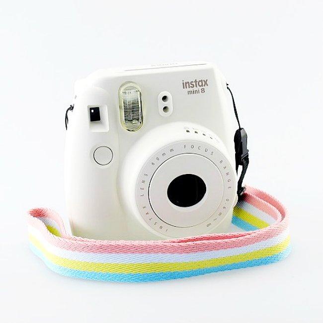 4 Color Stripe Neck Strap Camera Accessories for Fujifilm Instax Mini 8 7s 25 50s 90 70 Polaroid 300