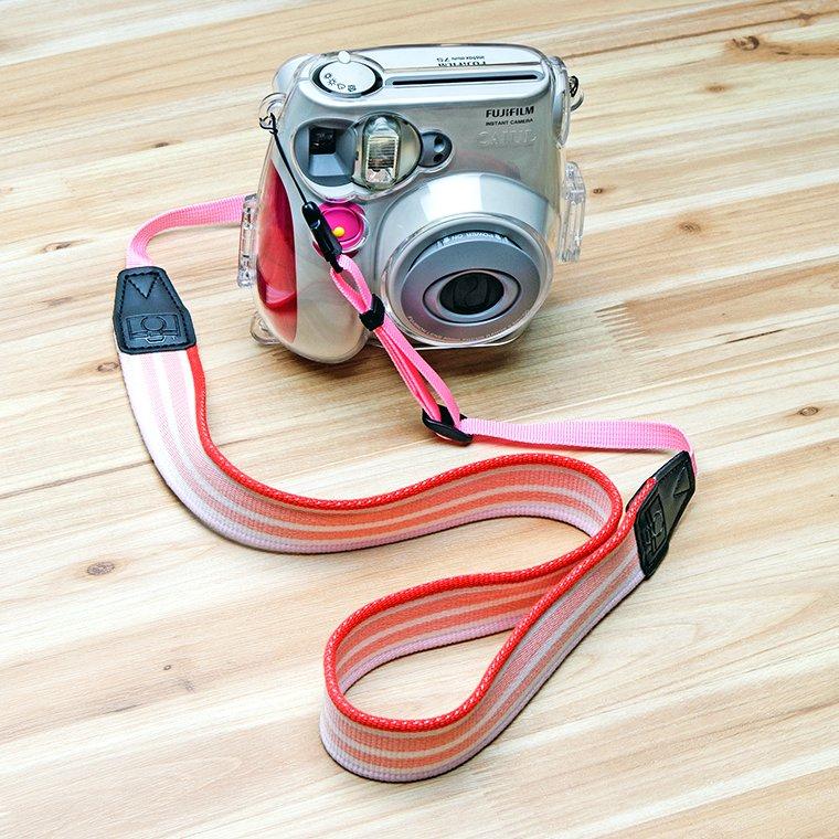 Pink Stripe Camera Strap Accessories for Fujifilm Instax Mini 8 7s 25 50s 90 70 Polaroid 300