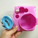 Solid Pink Camera Case Protective Accessory for Fujifilm Instax Mini 8 Camera