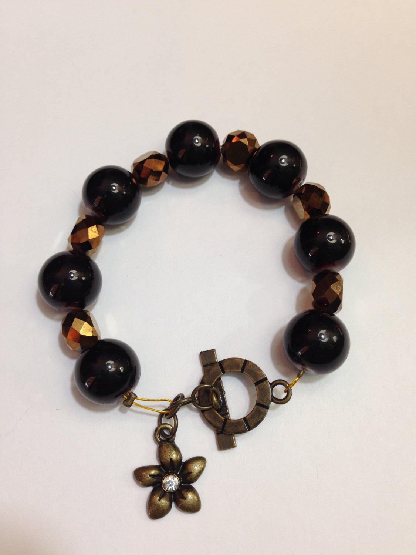 Bead Bracelet with Charm