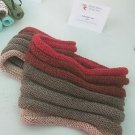 Red/grey ombre cowl
