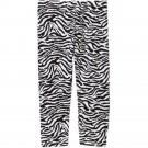 NEW with Tag, Girls FADED GLORY Legging Capri Size: XS 4-5 Zebra Print
