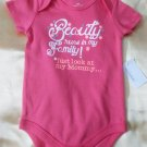 New Baby Girl Creeper Bodysuit One Piece Size 12 Months