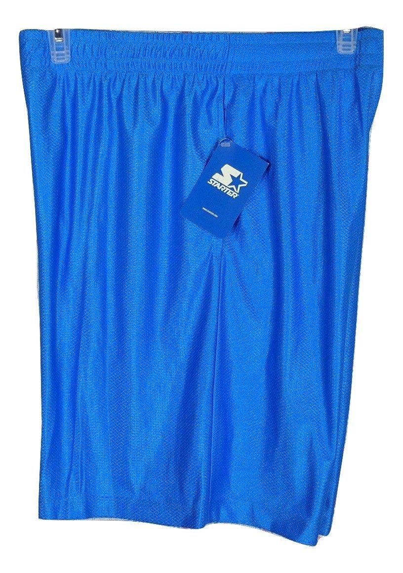New, Men's Starter Dazzle Short, Color Blue, Size Small