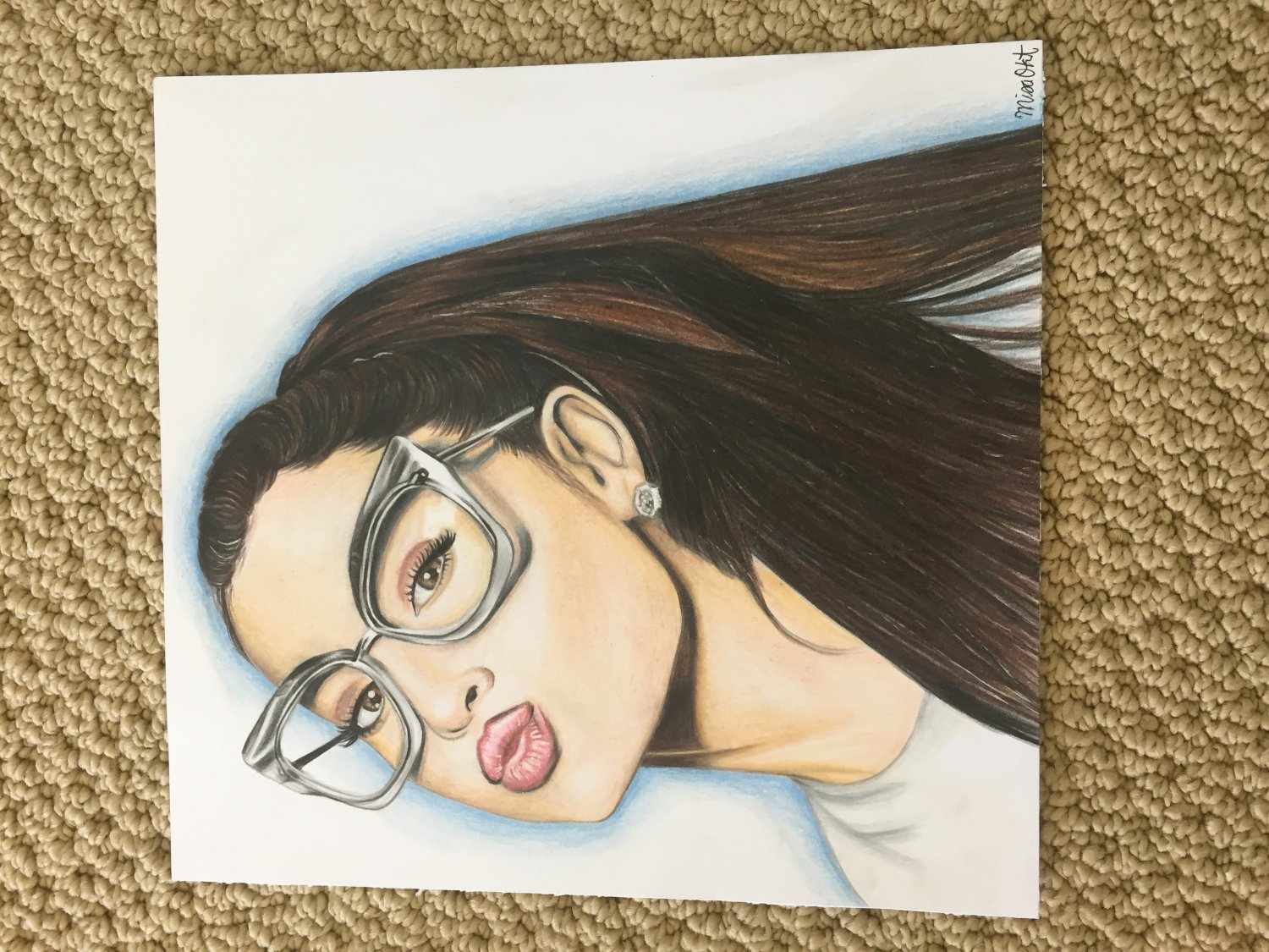 Ariana Grande Colored Pencil Drawing