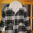 Men's Pile lined wool coat