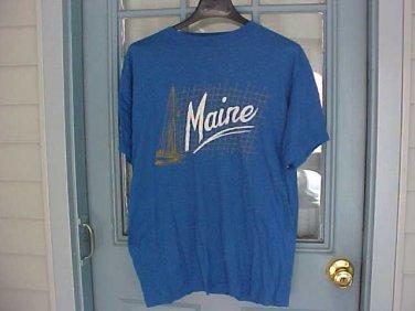 Mens Maine Blue Tee Shirt
