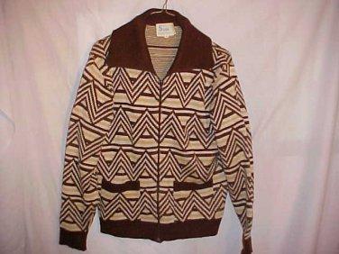 Mens Zippered Sweater 100% Virgin Acrylic