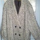 Wool Black and Grey Women Coat
