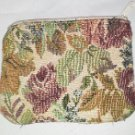Zippered Flower print purse