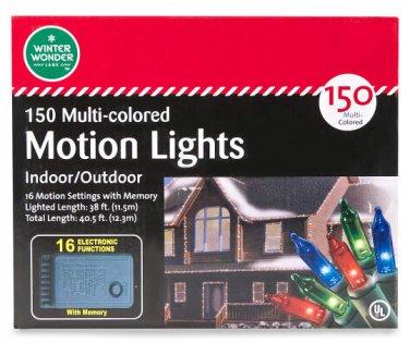 Multi-Color Function Motion Light Set, 150-Count