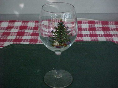 Vintage Collectible Holiday Decorated Wine Glass