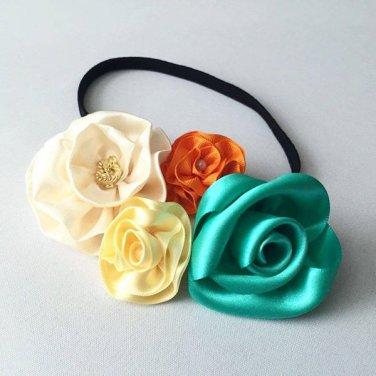 Satin Flower Headbands