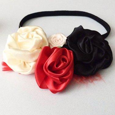 Satin Rose Headband