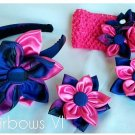 4pcs Plaid  Kanzashi Pointed Petals Set
