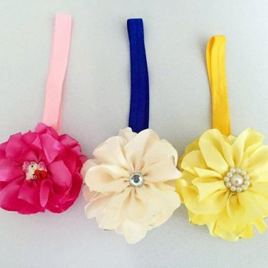 Satin Flower Headband lot