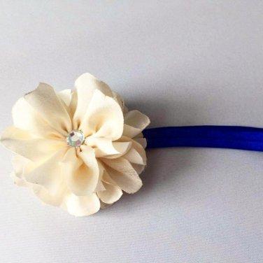 Cream  Satin Flower Headband